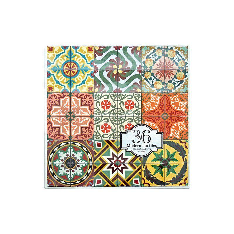 36 Modernist Tiles Magnets