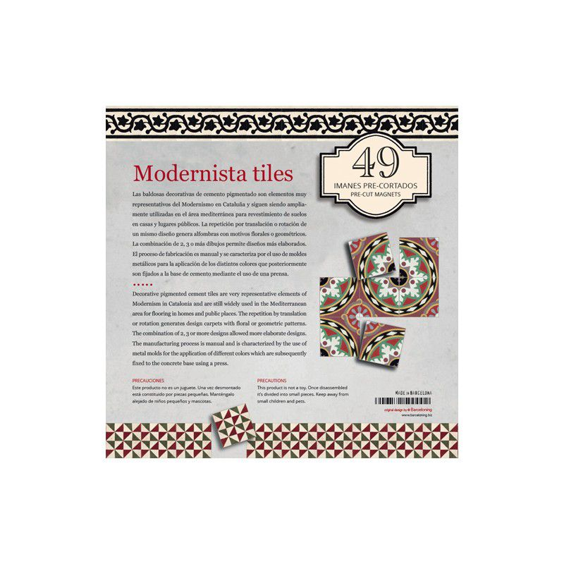 49 imanes baldosas modernistas