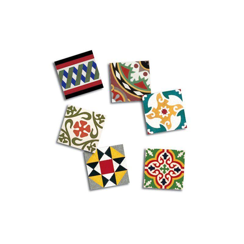 Imanes con diseños de baldosas modernistas