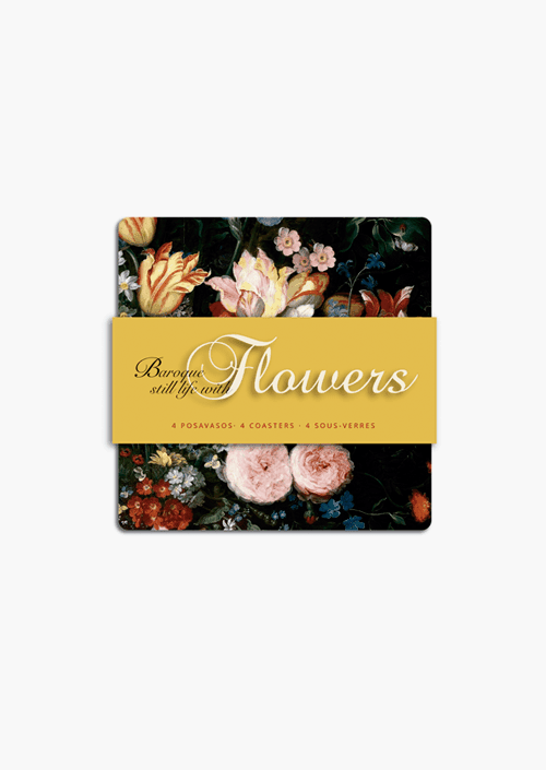 4 Baroque Flowers Coasters