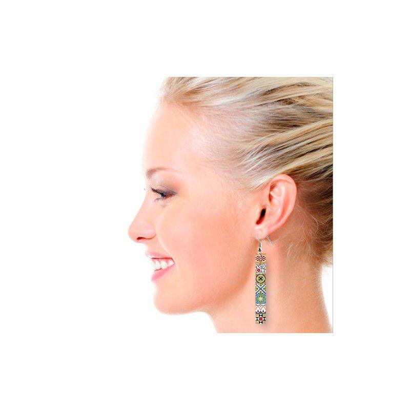 Tiles Lg Earrings