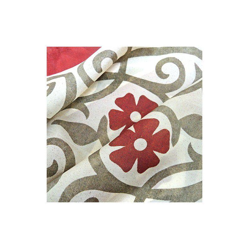 Red Flower Silk Scarf