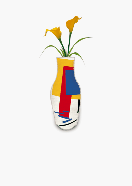 Malevich Cotton Flower Vase