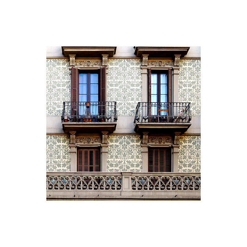 Esgrafiado calle Roselló, 542, Barcelona