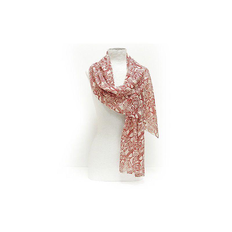 Born Roses Silk Scarf