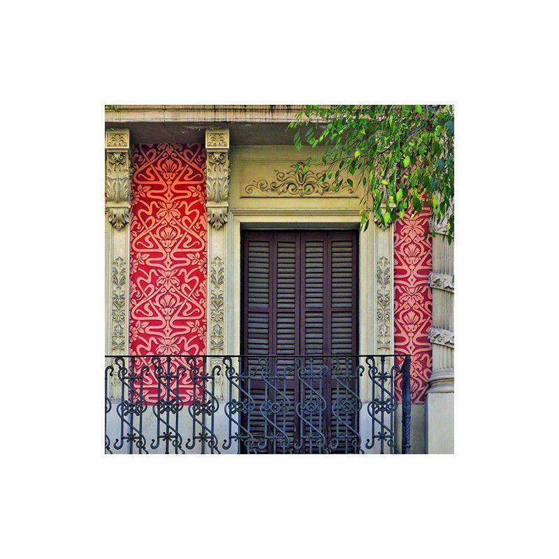 Detalle esgrafiado calle Córsega