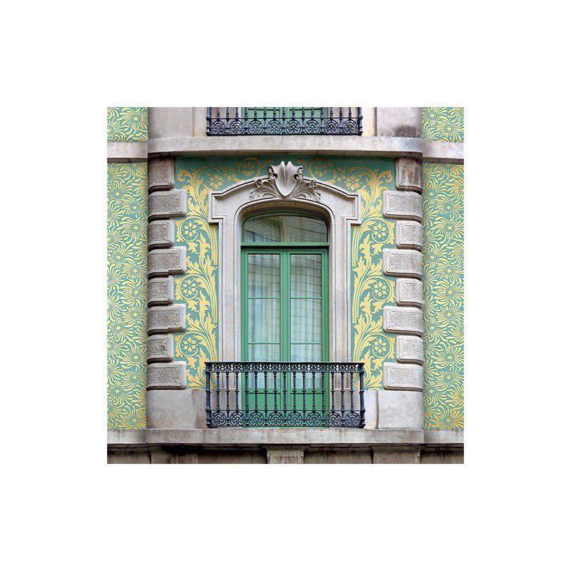 Sgraffito at 3 Bailén Street, Barcelona