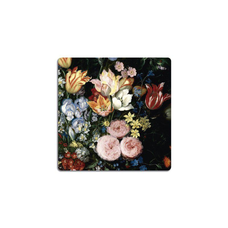 4 Posavasos Flores Barrocas