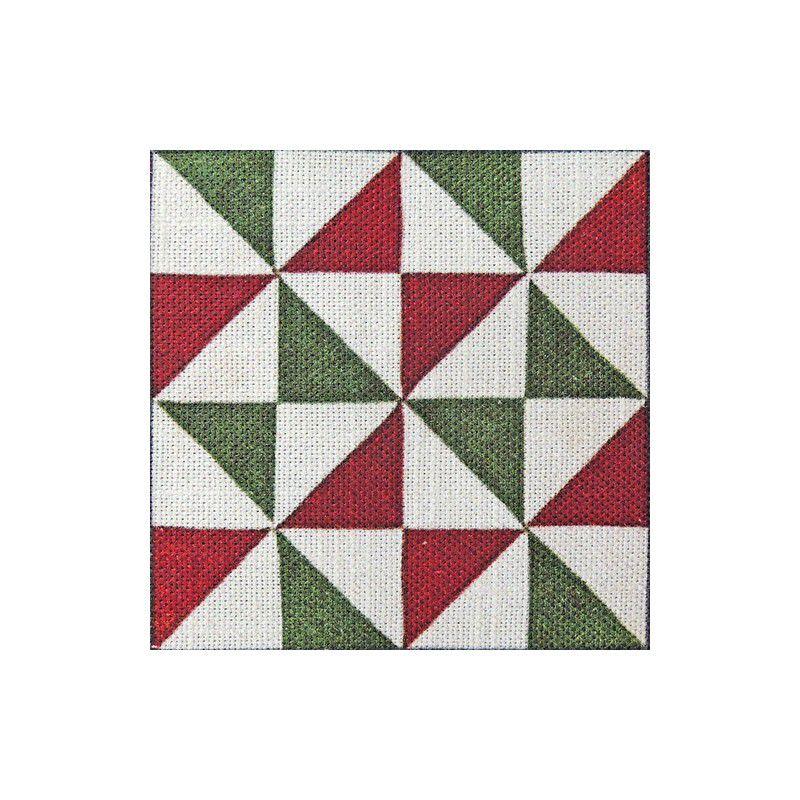 Detall de la tela amb disseny de rajoles modernistes triangles