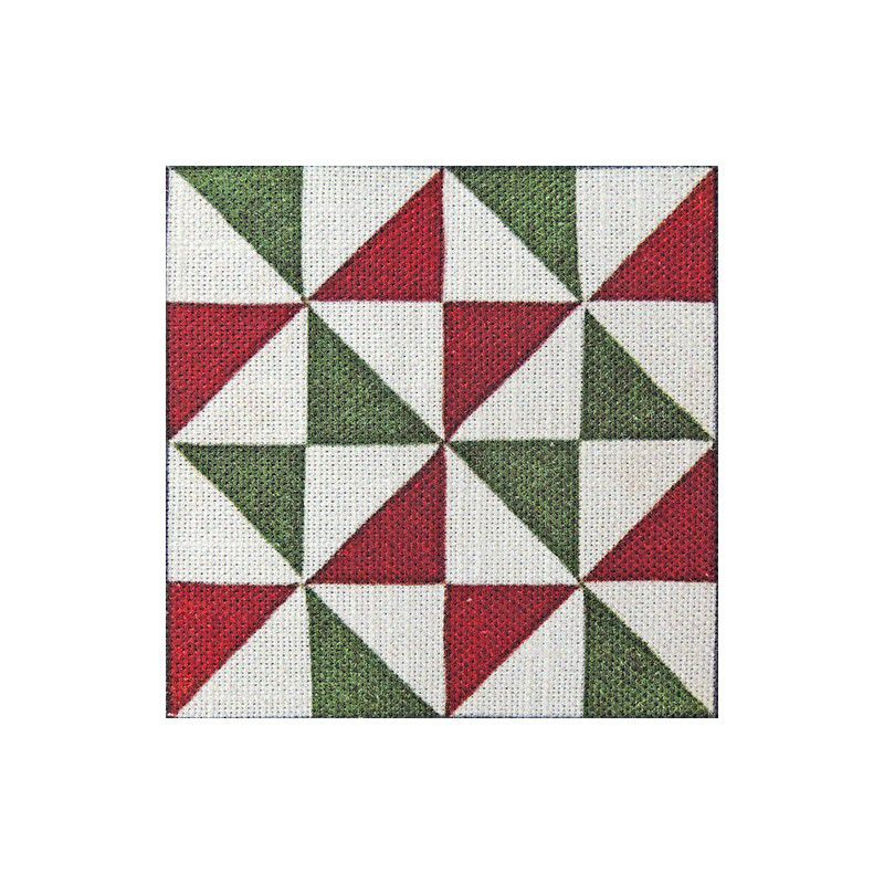 Detalle de la tela con diseño de baldosas modernistas triángulos