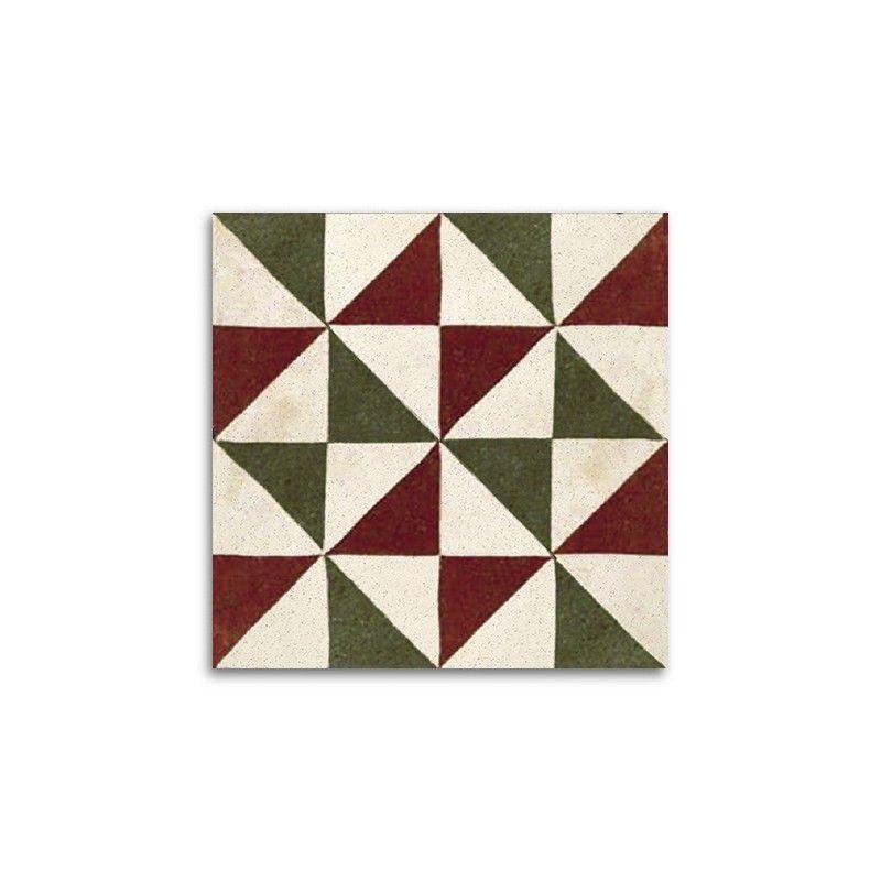 Detalle baldosas triángulos