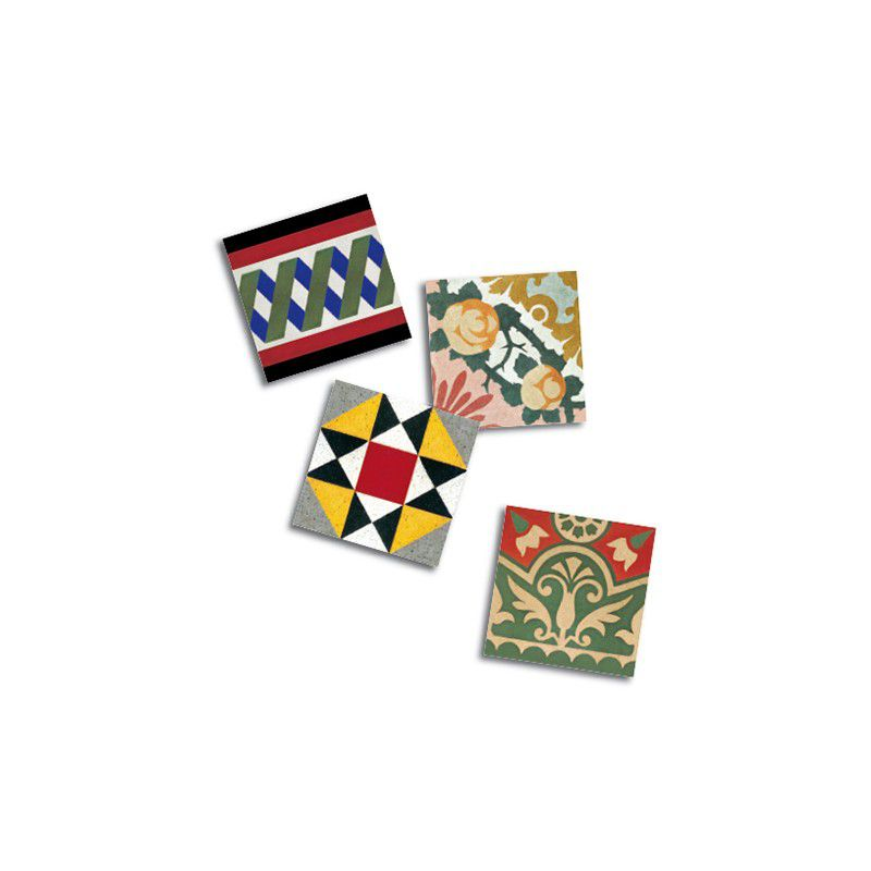 4 Modernist Tiles Magnet