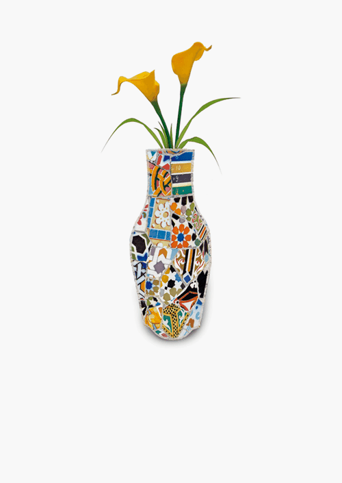 Trencolor Cotton Flower Vase