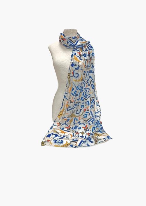 Fulard de seda Trencablau