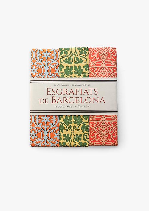 Trío de jabones Esgrafiados de Barcelona