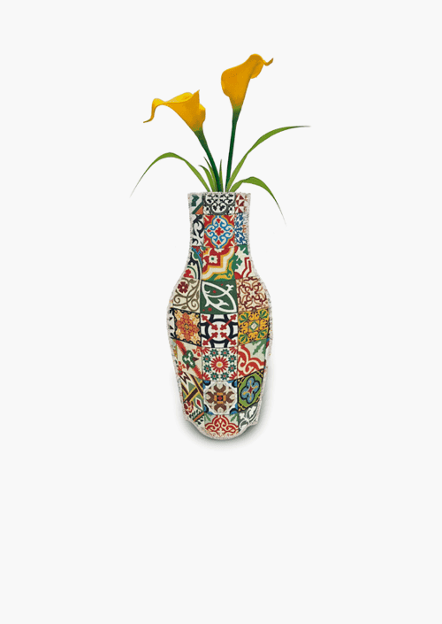 Tiles Cotton Flower Vase