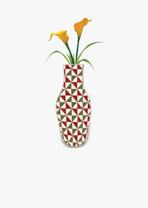 Triangles Cotton Flower Vase