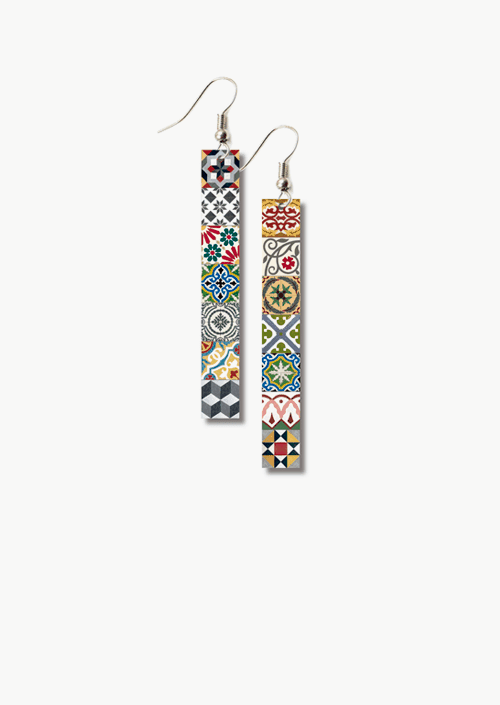 Tiles Lg Earrings