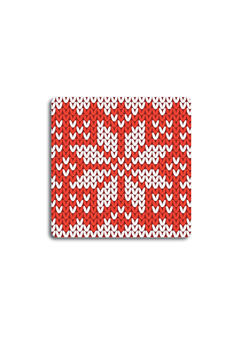4 Posavasos Knit Red