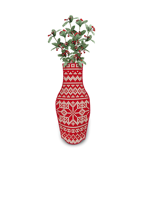 Xmas Cotton Flower Vase