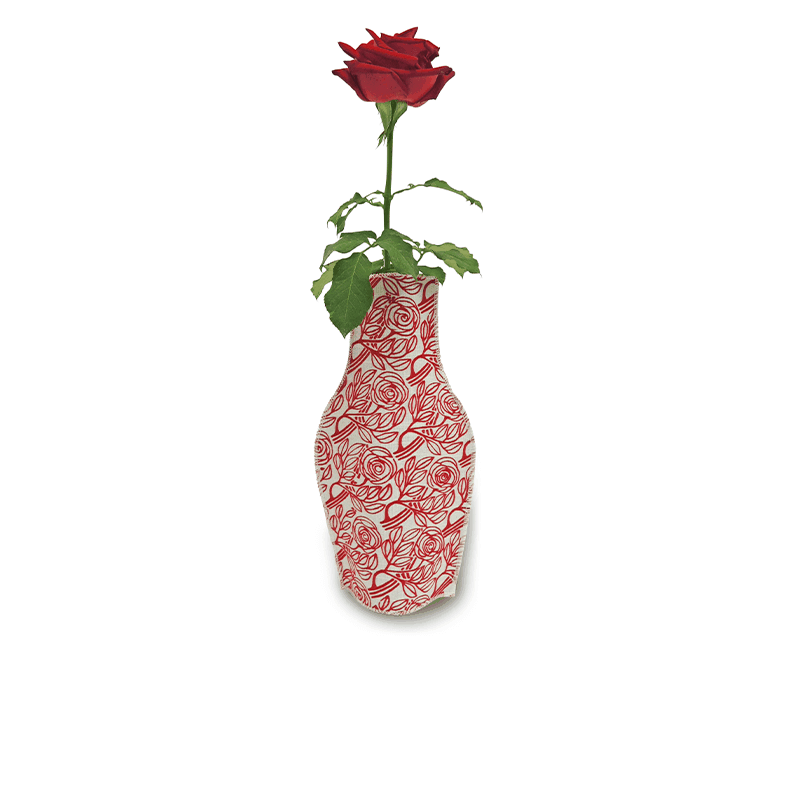 Born Roses Cotton Flower Vase