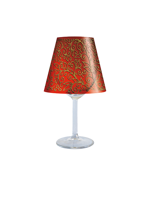 Red & Gold Lampshade