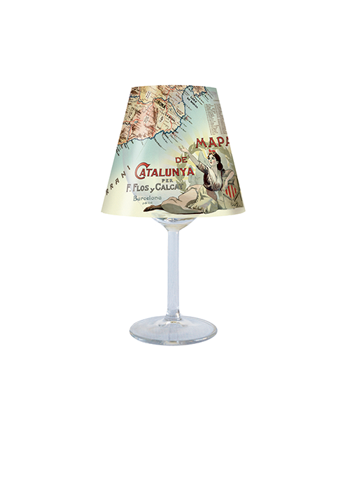 Map of Catalonia Lampshade