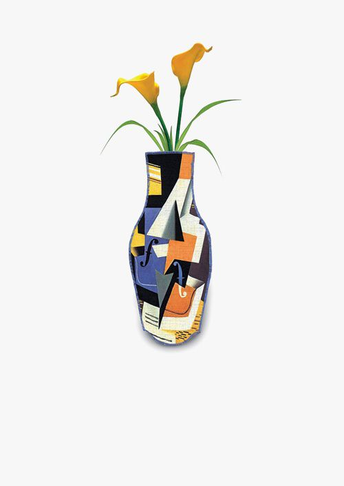 Juan Gris Cotton Flower Vase