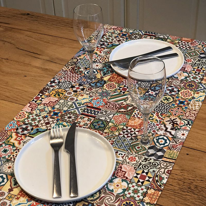 Tiles Table Runner