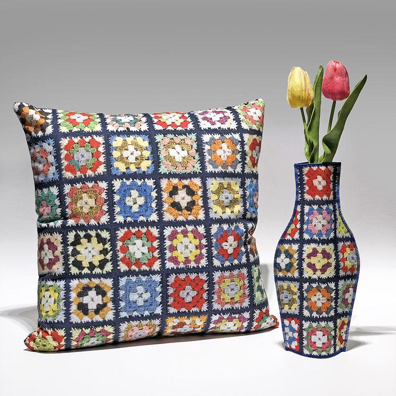 Yaya Cushion and Cotton Flower Vase