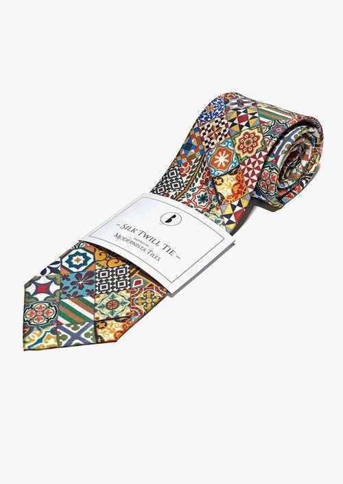 Tiles Silk Tie