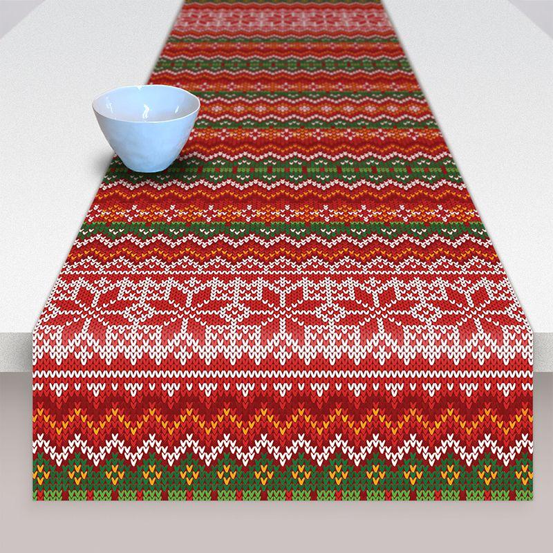 Xmas Knit Table Runner