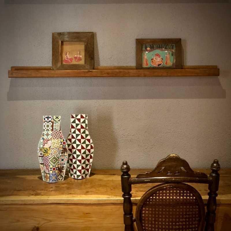 Jarrones de tela decorativos de la colección Baldosas Modernistas