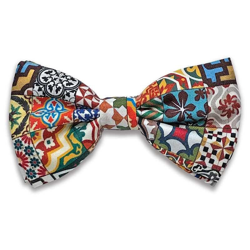 Pajarita de twill de seda de la colección Baldosas Modernistas