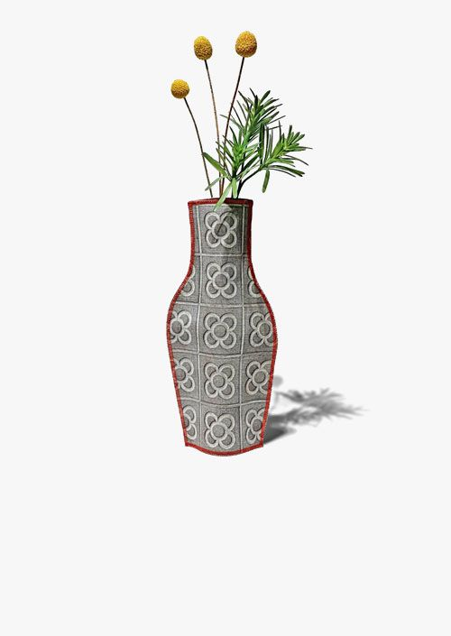 Panot de Flor decorative vase in cotton fabric, design inspired by the tiles of Barcelona