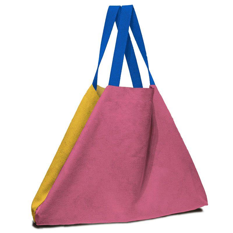 Bolsa de gran tamaño en atrevidos colores tela 100% de algodón