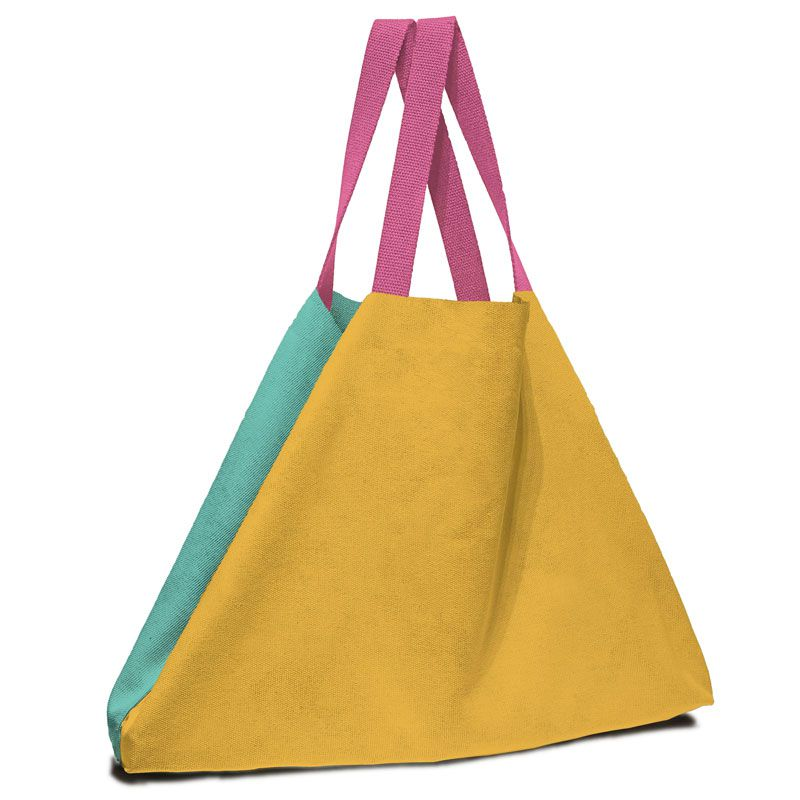 Oversized bag in bold colors 100% cotton fabric