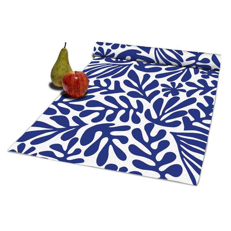 Camino de mesa 100% algodón, inspirado en la técnica del papel recortado