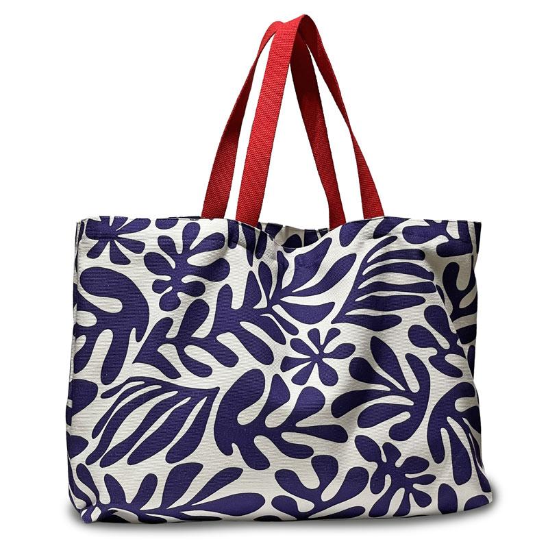 Gran bossa, ideal per a la platja o una escapada, tela de cotó