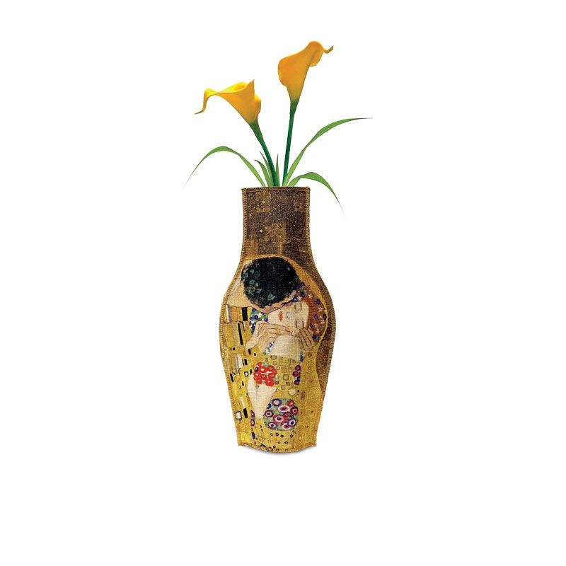 Funda de tela de cotó per a usar com a florer reciclant una ampolla