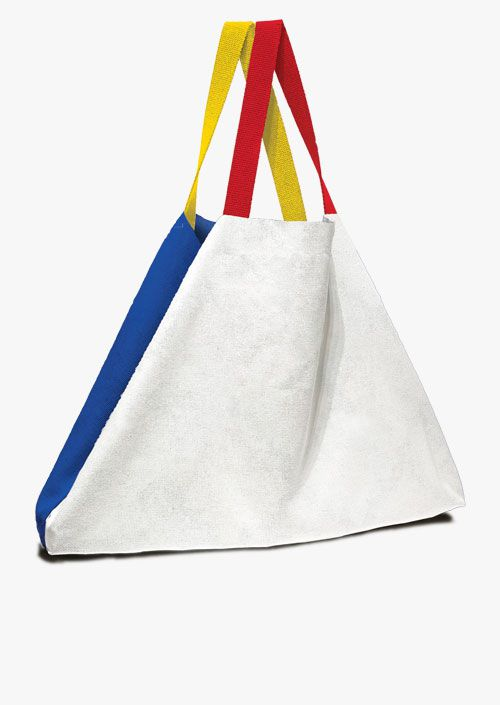 Bolso de gran formato diseño inspirado en la obra de Piet Mondrian