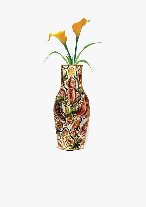 Jarrón decorativo de tela, diseño inspirado en los grabados de Ernst Haeckel