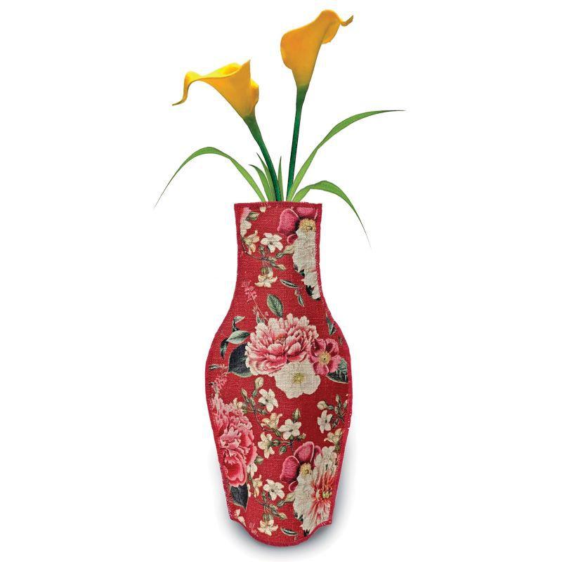 Gerro decoratiu amb disseny floral vintage
